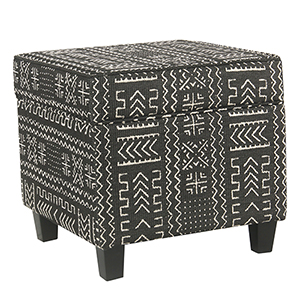 Onyx Square Ottoman with Lift Off Top