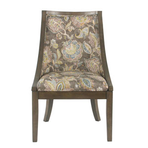 Industrial Dining Chair - Grey Floral