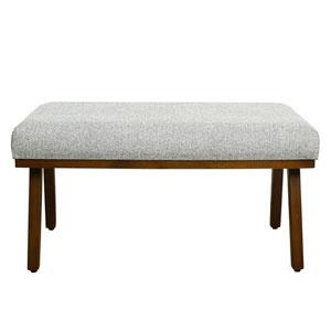 Mid Century Decorative Bench - Ash Grey