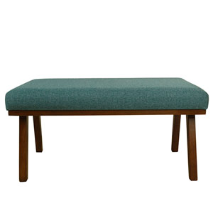 Mid Mod Decorative Bench - Teal