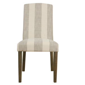 Curved Back Parsons Chair - Grey Stripe (Set of 2)