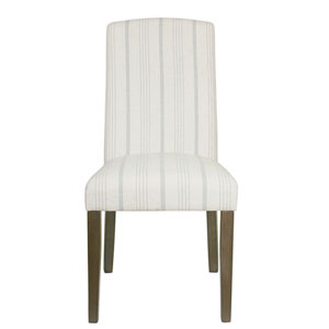 Classic Parsons Dining Chair - Dove Grey Stripe (Set of 2)