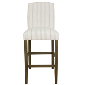 Classic Parsons High Back Barstool - Dove Grey Stripe