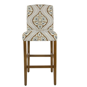 Curved Back Barstool - Bronze