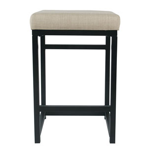 Open Back Metal Counter Stool - Natural