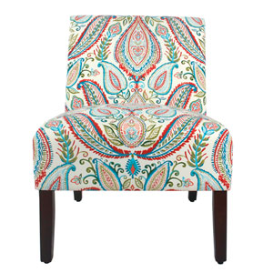 Carson Armless Accent Chair - Bold Paisley