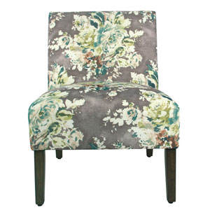 Carson Armless Accent Chair - Gray Floral