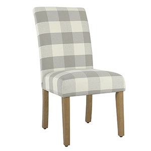 Gray Plaid Parsons Dining Chair - Set of 2