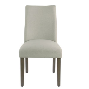 Curved Back Dining Chair - Stain Resistant Dove Fabric - set of 2