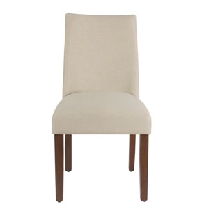 Curved Back Dining Chair - Stain Resistant Cream Fabric - set of 2