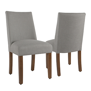 Silver Dining Chair with Tacks - Set of 2