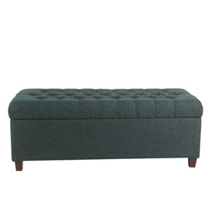 48 Inch Tufted Storage Bench - Navy