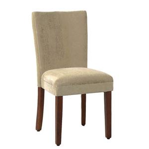 Parsons Chair, Tan Velvet, Set of Two