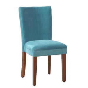 Parsons Chair, Teal Velvet, Set of Two