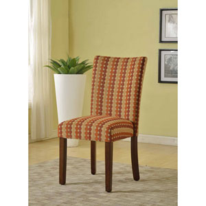 Parsons Chair, Multi Color Dot Pattern, Set of Two