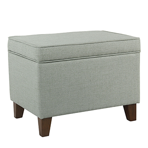 Medium Aqua Storage Ottoman