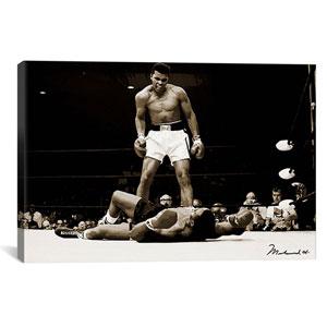 Muhammad Ali Vs. Sonny Liston, 1965 by Unknown Artist: 26 x 18-Inch Canvas Print
