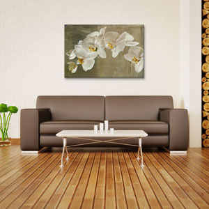 Painted Orchid by Symposium Design: 26 x 18-Inch Canvas Print