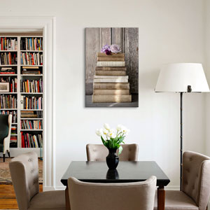 Books III by Symposium Design: 26 x 40-Inch Canvas Print