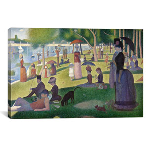 Sunday Afternoon on the Island of La Grande Jatte by Georges Seurat: 26 x 18-Inch Canvas Print