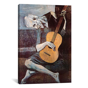 The Old Guitarist by Pablo Picasso: 26 x 40-Inch Canvas Print