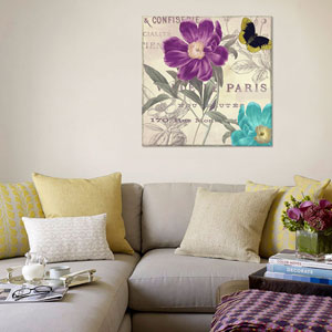 Petals of Paris II by Color Bakery: 26 x 26-Inch Canvas Print