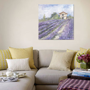 Lavender Fields by Debi Coules: 18 x 18-Inch Canvas Print