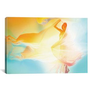 She is Made Of A Million Sunsets by Elena Kulikova: 40 x 26-Inch Canvas Print