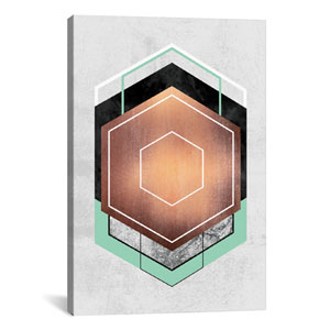 Hexagon Abstract I by Elisabeth Fredriksson: 18 x 26-Inch Canvas Print