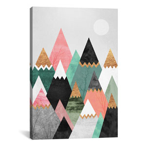 Pretty Mountains by Elisabeth Fredriksson: 26 x 40-Inch Canvas Print