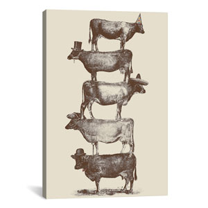 Cow Cow Nuts by Florent Bodart: 18 x 26-Inch Canvas Print