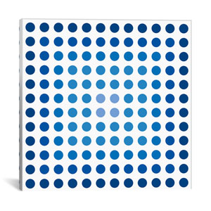 Faded Navy Dots by 5by5collective: 18 x 18-Inch Canvas Print