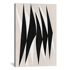 Zebra Print Tribal Paint by 5by5collective: 26 x 40-Inch Canvas Print