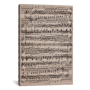 Sheet Music Ode to Joy by 5by5collective: 26 x 40-Inch Canvas Print