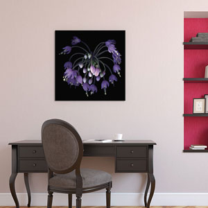 Allium Fireworks by Magda Indigo: 26 x 26-Inch Canvas Print