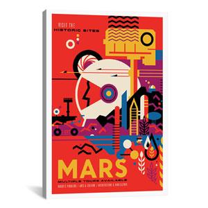Mars by NASA: 26 x 40-Inch Canvas Print