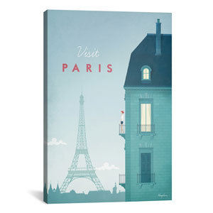 Paris by Henry Rivers: 26 x 40-Inch Canvas Print