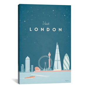 London by Henry Rivers: 26 x 40-Inch Canvas Print