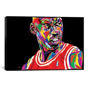 Jordan Portrait by TECHNODROME1: 40 x 26-Inch Canvas Print