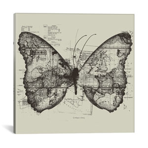 Butterfly Effect by Tobias Fonseca: 26 x 26-Inch Canvas Print