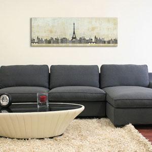 Eiffel Skyline by Avery Tillmon: 36 x 12-Inch Canvas Print
