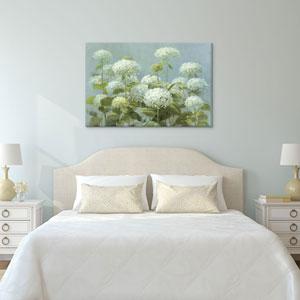 White Hydrangea Garden by Danhui Nai: 40 x 26-Inch Canvas Print