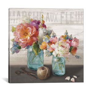 French Cottage Bouquet III by Danhui Nai: 18 x 18-Inch Canvas Print