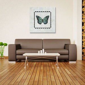Butterfly Stamp by Courtney Prahl: 18 x 18-Inch Canvas Print