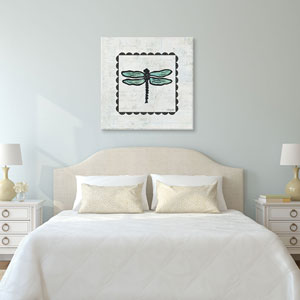 Dragonfly Stamp by Courtney Prahl: 18 x 18-Inch Canvas Print