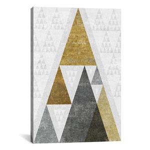 Mod Triangles III.B by Michael Mullan: 18 x 26-Inch Canvas Print