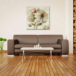 Marche de Fleurs II S by Lisa Audit: 18 x 18-Inch Canvas Print