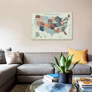 USA Modern Blue by Michael Mullan: 26 x 18-Inch Canvas Print