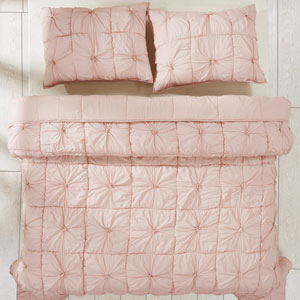 Camille Blush Pink Two-Piece Twin Quilt Set
