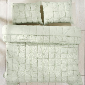 Camille Mint Two-Piece Twin Quilt Set